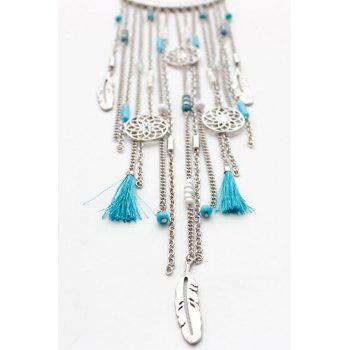 Retro Style Link Chain Tassel Necklace - WHITE GOLDEN