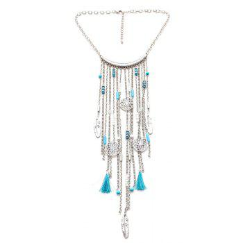 Retro Style Link Chain Tassel Necklace