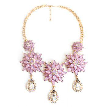 Exquisite Floral Pendant Necklace For Women