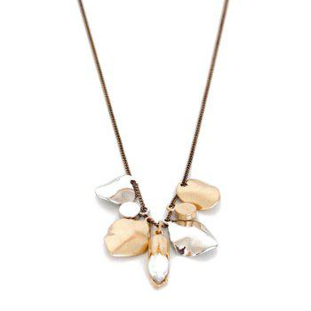 Chic Alloy Leaf Shape Pendant Sweater Chain For Women - GOLDEN GOLDEN
