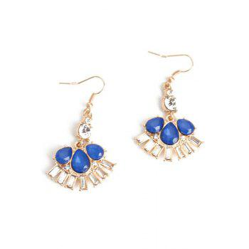 Pair of Delicate Flower Faux Crystal Earrings For Women