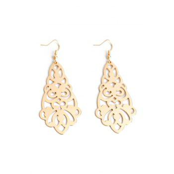 Pair of Flower Hollow Out Earrings