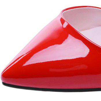 Graceful Patent Leather and Pointed Toe Design Pumps For Women - RED 39