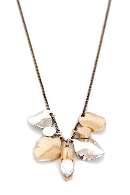 Chic Alloy Leaf Shape Pendant Sweater Chain For Women - GOLDEN