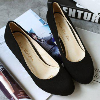 Trendy Cone Heel and Suede Design Women's Pumps - 37 37