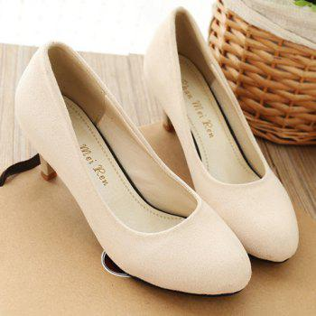 Trendy Cone Heel and Suede Design Women's Pumps - 36 36