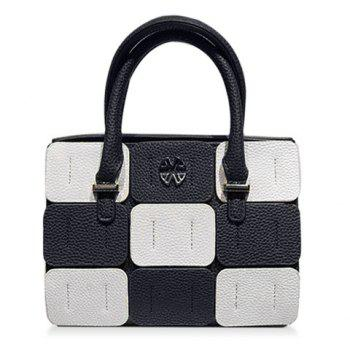Trendy Color Block and Patchwork Design Women's Tote Bag