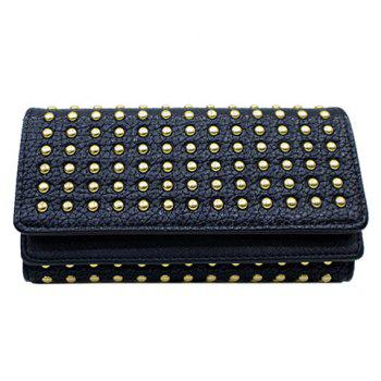 Trendy Rivets and Solid Color Design Women's Wallet