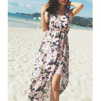 Spaghetti Strap Sleeveless Floral Print Dress
