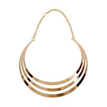 Statement Mirror Side Multilayered Necklace