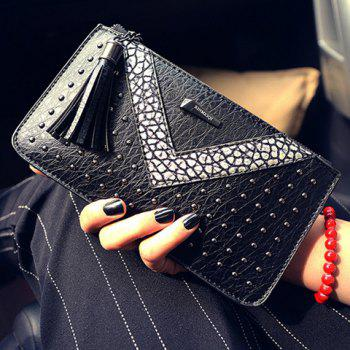 Stylish Rivets and Colour Block Design Women's Wallet