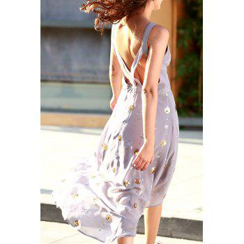 Bohemian Round Neck Sleeveless Cutout Beaded Women's Fall Love Dress