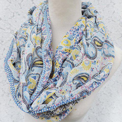 Chic Paisley Pattern Match Women's Voile Scarf