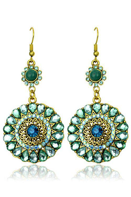Exquisite Bohemia Faux Crystal Round Earrings For Women
