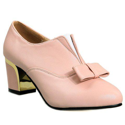 Stylish Bowknot and Elastic Design Pumps For Women - Pink 38 discount under $60 tkZJNHyPT