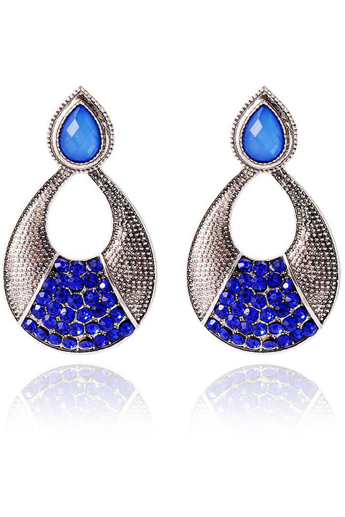 Pair of Gothic Rhinestone Hollow Out Water Drop Earrings For Women pair of exquisite rhinestone hollow out water drop earrings for women