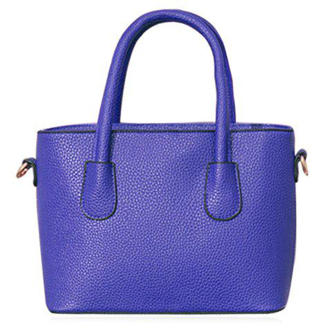 Fashionable Metal and Solid Color Design Tote Bag For Women
