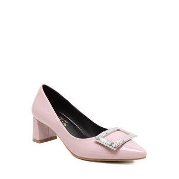 Stylish Square Buckle and Rhinestone Design Pumps For Women - 39 39