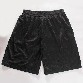 Straight Leg Drawstring Breathable Eyes Pattern Men's Board Shorts - M M