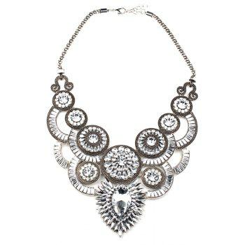 Retro Faux Crystal Fake Collar Necklace