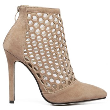 Fashion Hollow Out and Pointed Toe Design Pumps For Women - 39 39