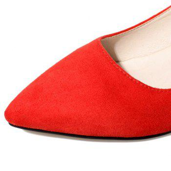 Graceful Flock and Bowknot Design Women's Pumps - RED 39