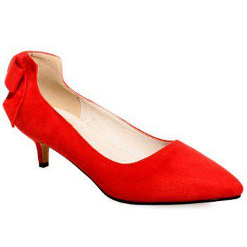 Graceful Flock and Bowknot Design Women's Pumps