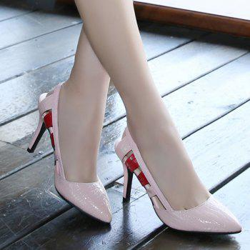 Elegant Patent Leather and Slingbacks Design Pumps For Women - PINK 39