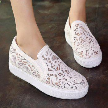 Sweet Lace and Elastic Design Women's Flat Shoes - 37 37