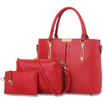 Trendy Metal and Plaid Design Women's Tote Bag
