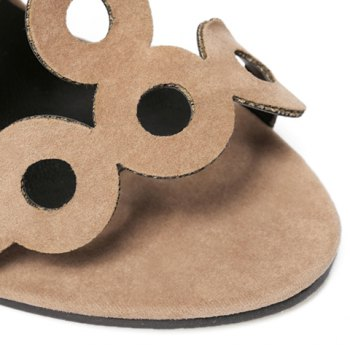 Fashion Hollow Out and Zipper Design Sandals For Women - APRICOT 36