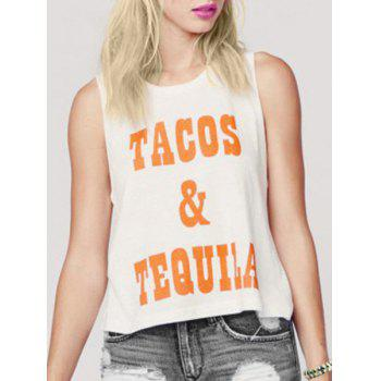 Simple Style Round Neck Sleeveless Women's Letter Tank Top