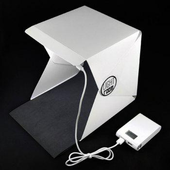 High Quality Portable Mini Photo Studio Box Photography Backdrop Built-In Light Photo Box - WHITE WHITE
