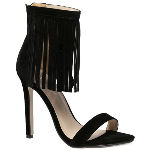 Suede Lace Up Fringe Sandals 2017 summer new fashion women cross tied lace up gladiator sandals red suede high heel sandals