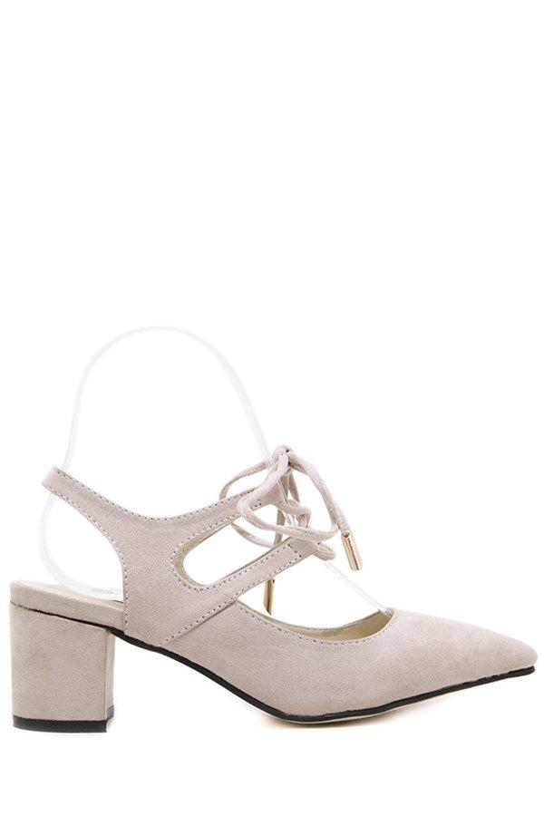 Stylish Slingback and Lace-Up Design Pumps For Women