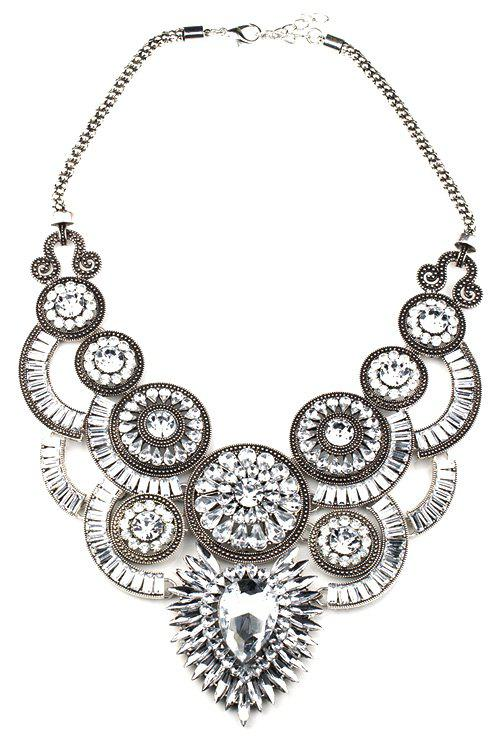 Elegant Faux Crystal Fake Collar Necklace For Women