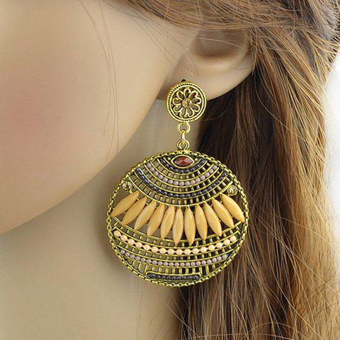 Pair of Charming Floral Hollow Out Beads Drop Earrings For Women
