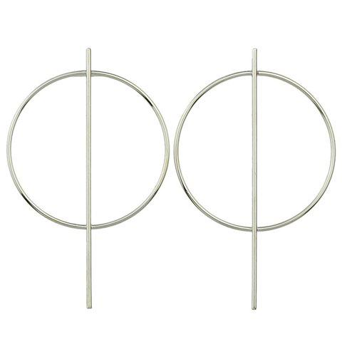 Pair of Round Earrings - SILVER