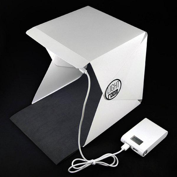 High Quality Portable Mini Photo Studio Box Photography Backdrop Built-In Light Photo Box - WHITE