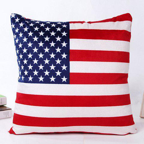 High Quality Square Shape Colorful Flag Pattern Pillow Case(Without Pillow Inner) - COLORMIX