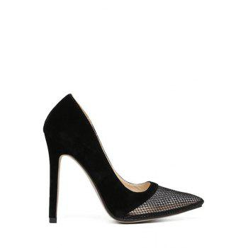 Sexy Mesh and Stiletto Heel Design Pumps For Women
