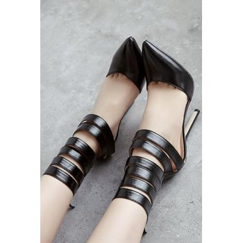 Sexy Straps and Pointed Toe Design Pumps For Women - 36 36