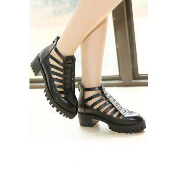 Trendy Closed Toe and Platform Design Sandals For Women - BLACK 36