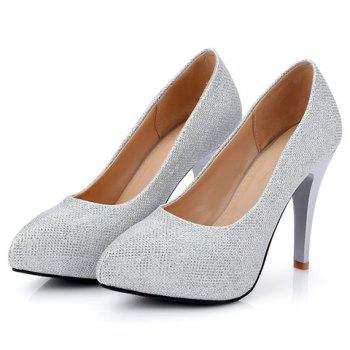 Fashionable Platform and Sequined Cloth Design Women's Pumps - 39 39