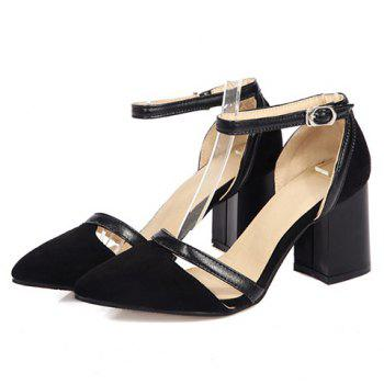 Fashion Chunky Heel and Suede Design Pumps For Women - 39 39