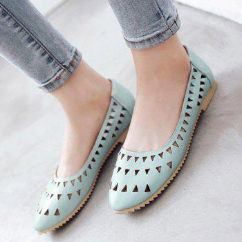 Leisure Hollow Out and Solid Colour Design Women's Flat Shoes - 37 37