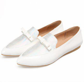 Casual Colour Block and Bow Design Women's Flat Shoes - 39 39