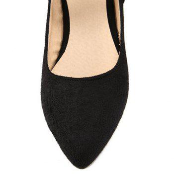 Trendy Splicing and Solid Color Design Women's Flat Shoes - BLACK BLACK
