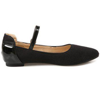 Trendy Splicing and Solid Color Design Women's Flat Shoes - 36 36