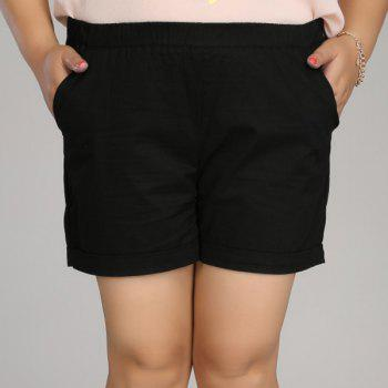 Casual Women's Solid Color Plus Size Shorts